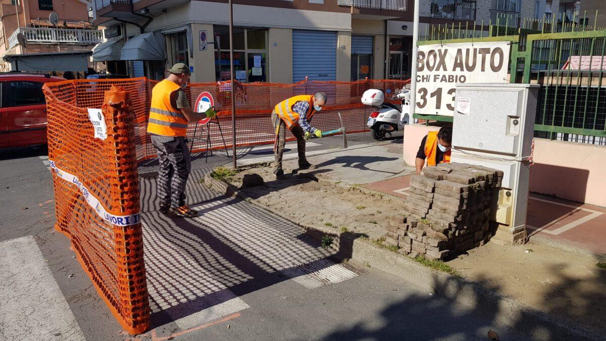 Peba Albenga - intervento viale Liguria