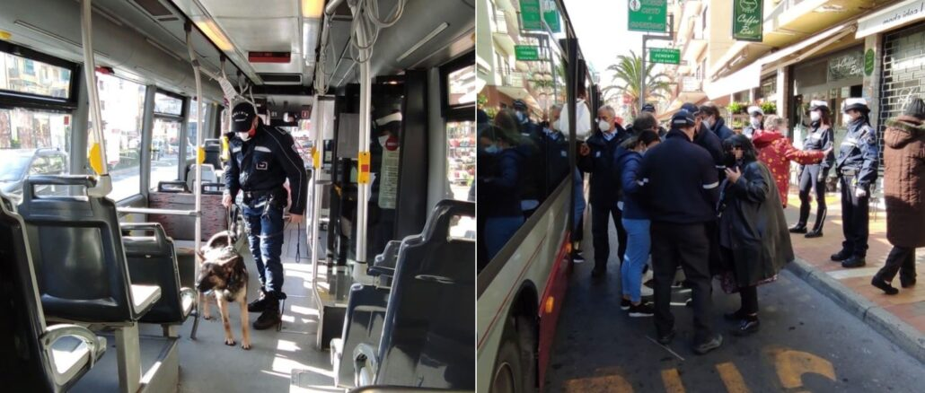 Polizia Locale controlli bus