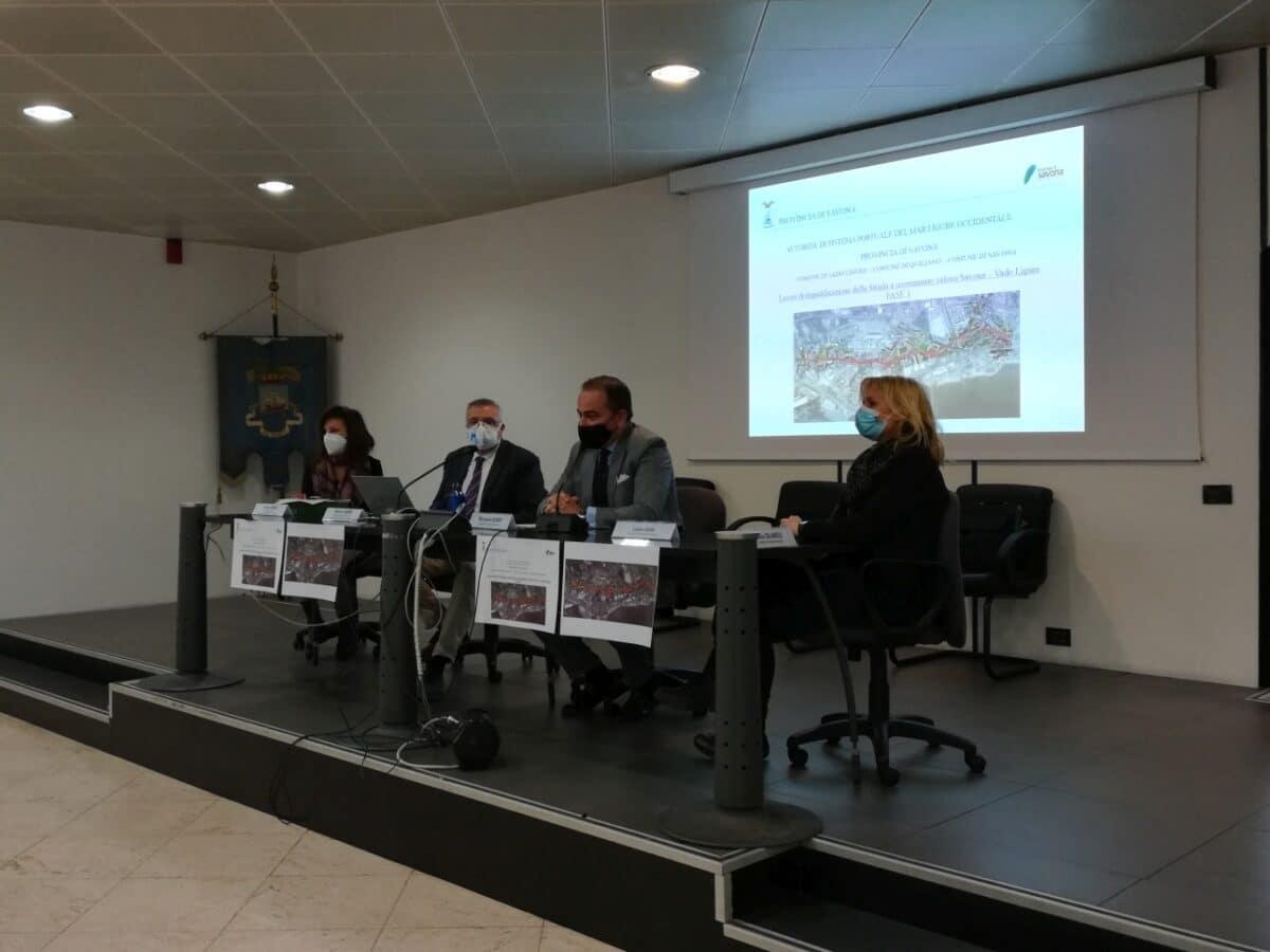 Presentazione lavori Strada Scorrimento Veloce Savona-Vado Ligure