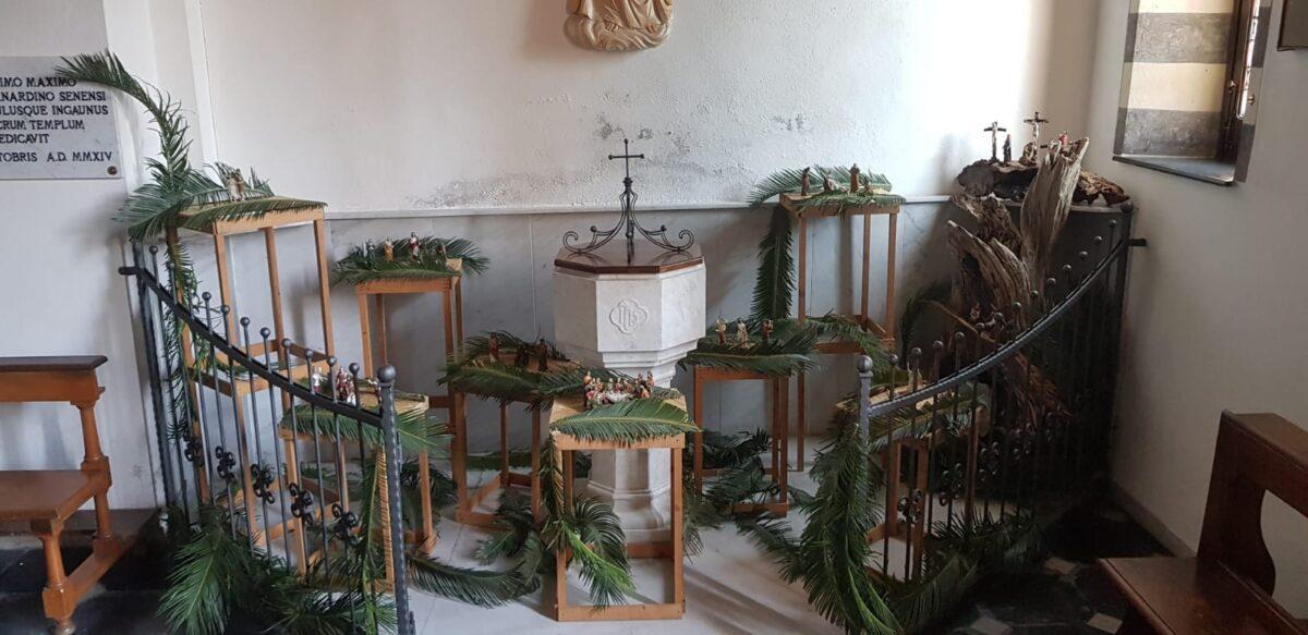 Presepe pasquale nella chiesa di San Bernardino in Albenga a Vadino