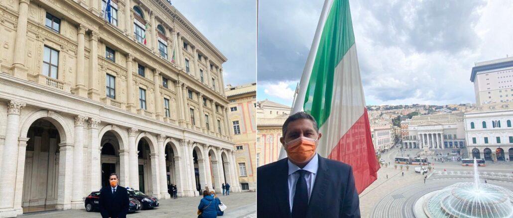 Regione Liguria minuto silenzio vittime covid