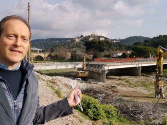 demolizione ponte Andora