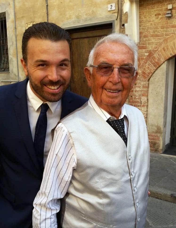 Albenga Giovanni Battista Enrico nella foto con il nipote Luca Lanzalaco