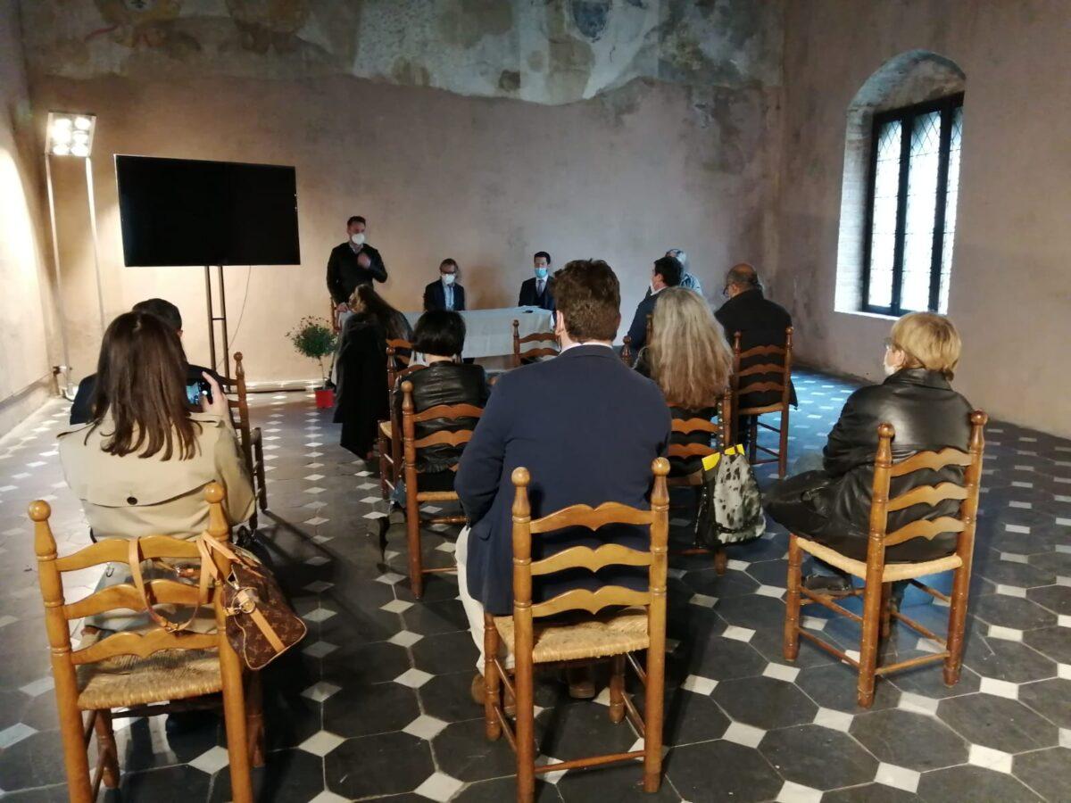 Albenga conferenza stampa torre civica