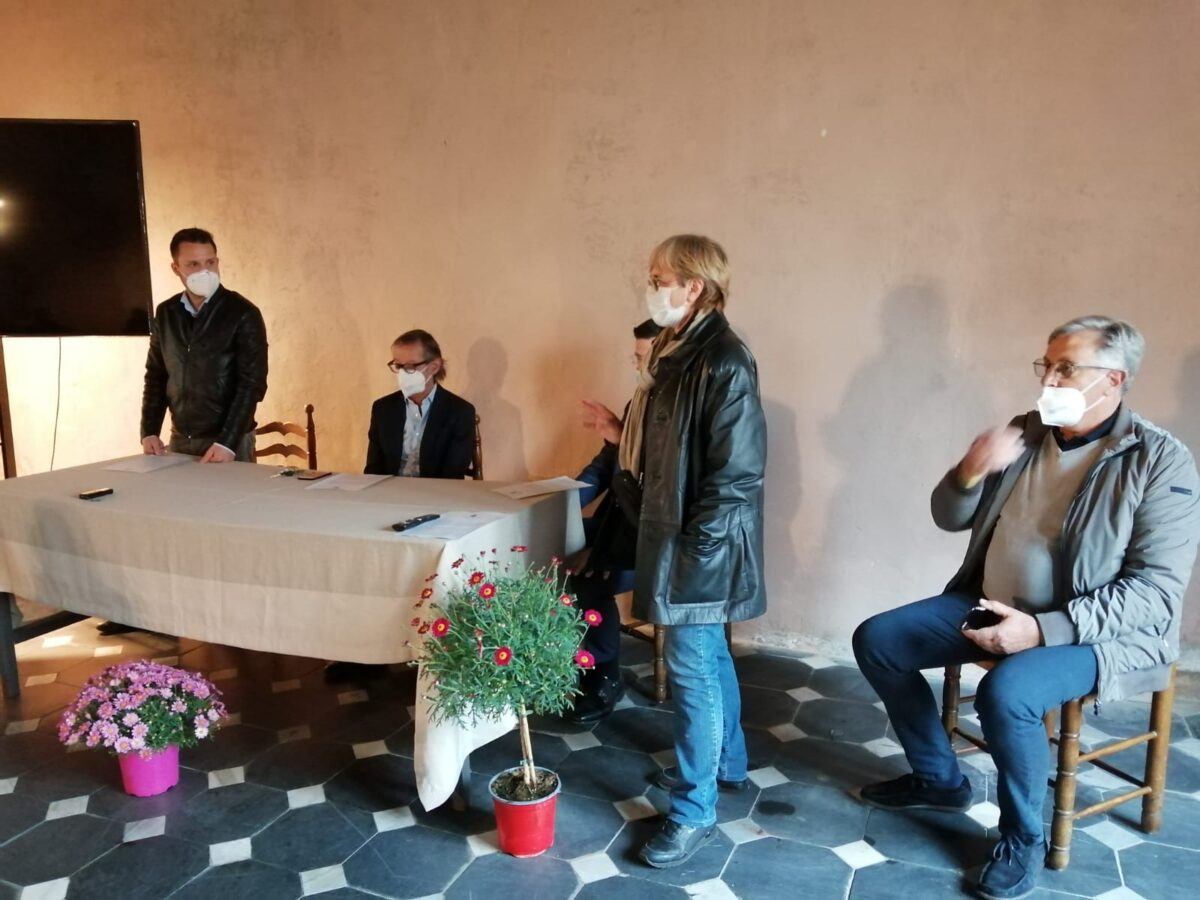 Albenga conferenza stampa torre civica 2