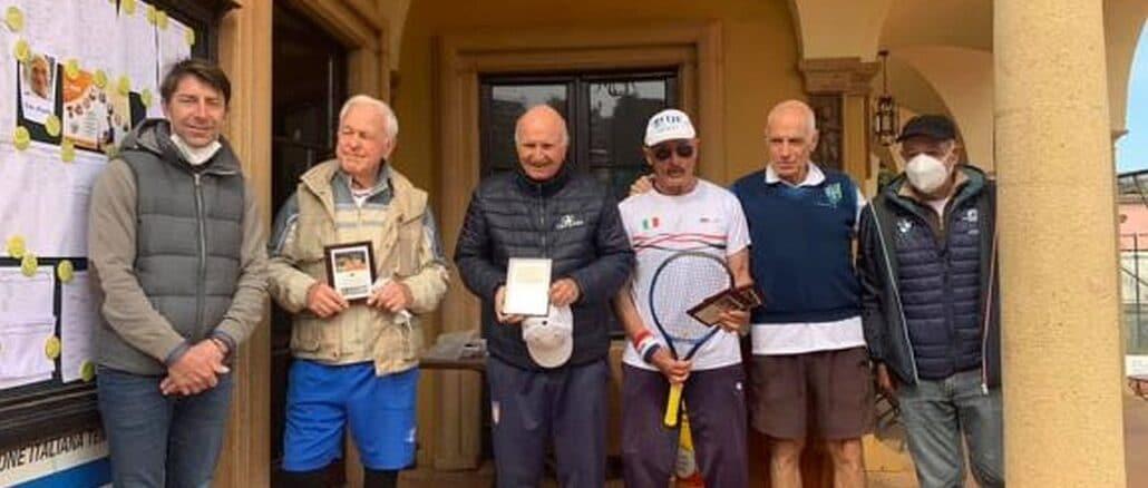 La premiazione del Doppio Master 75 - tennis club Alassio