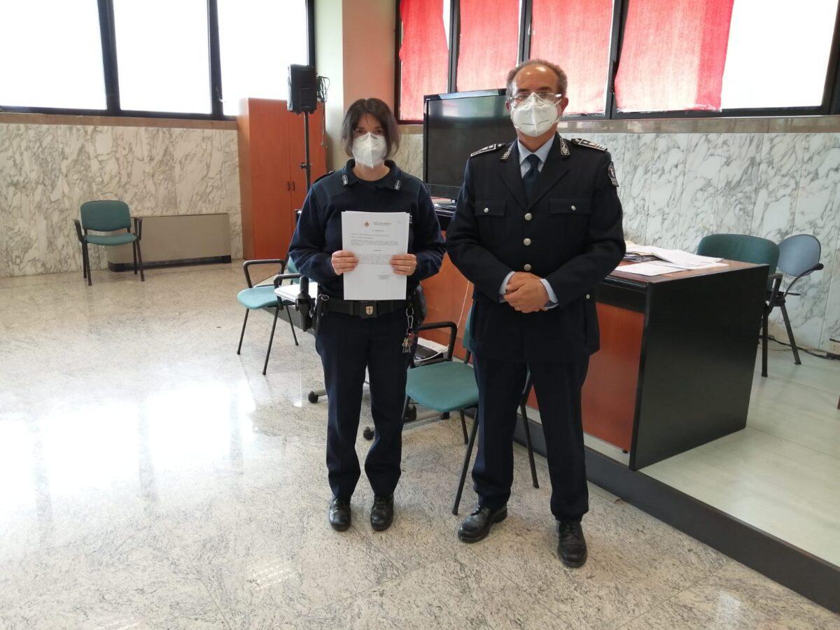 encomio polizia locale