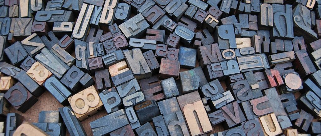 lettere tipografiche