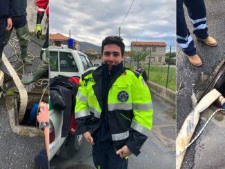 protezione civile Albenga intervento di disostruzione