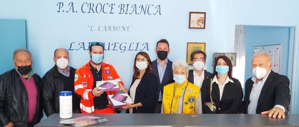 Lions Club Alassio Baia del Sole sostegno alla Croce Bianca di Laigueglia