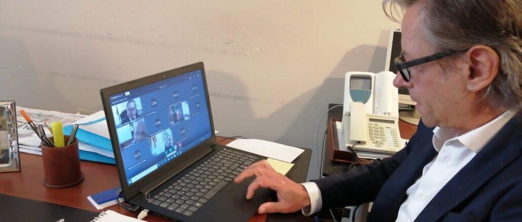 sindaco Riccardo Tomatis videoconferenza