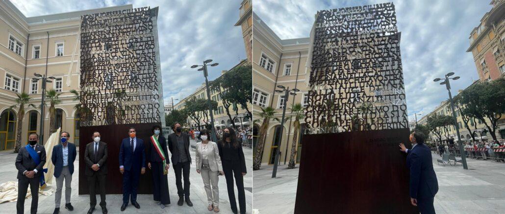 Toti Savona monumento a Sandro Pertini