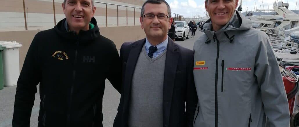 I fratelli Sibello con il presidente AMA Fabrizio De Nicola