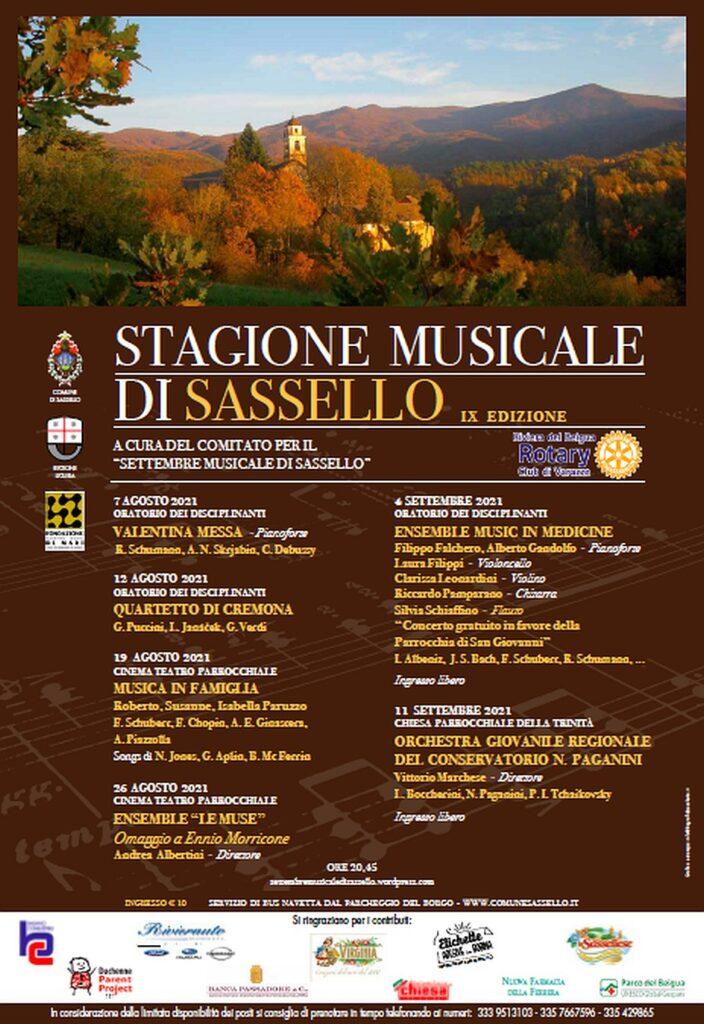 Programma Stagione musicale Sassello