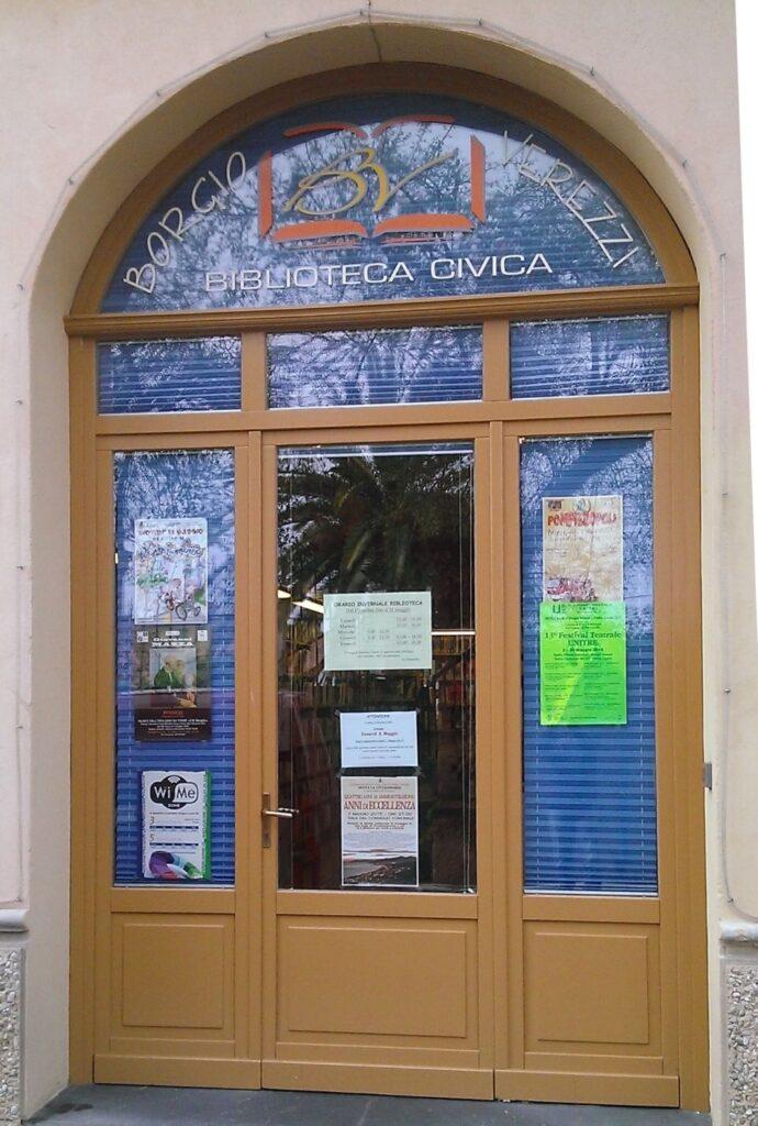 portone ingresso biblioteca