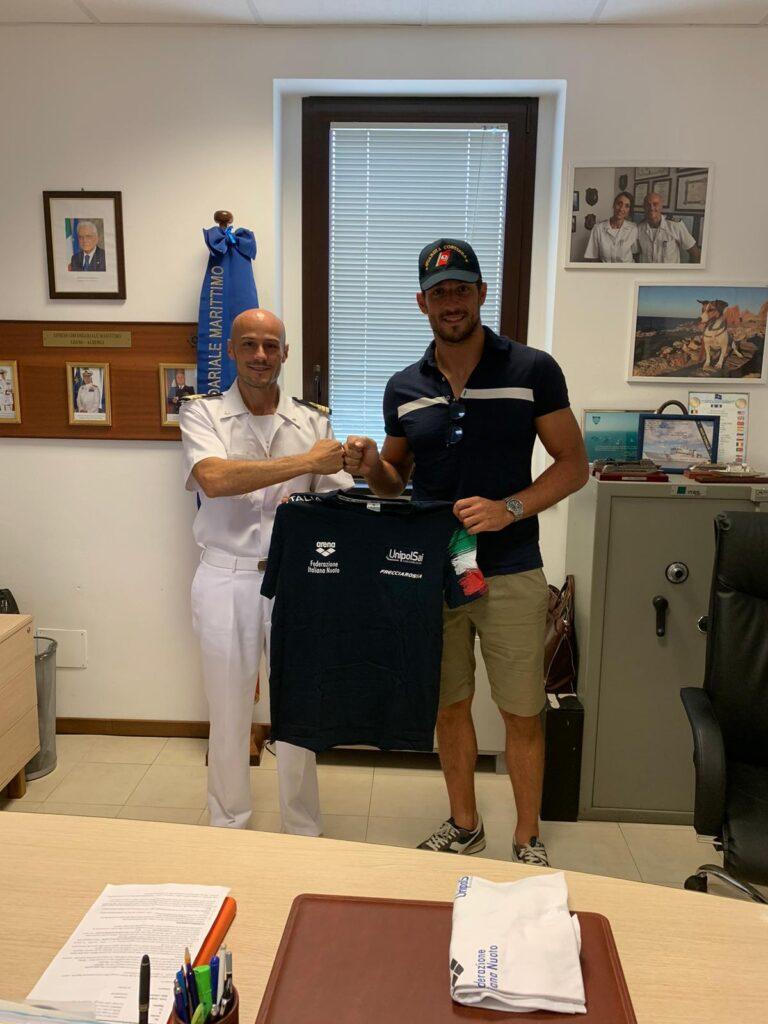 MAtteo Aicardi visita alla Guardia Costiera di Loano Albenga 02