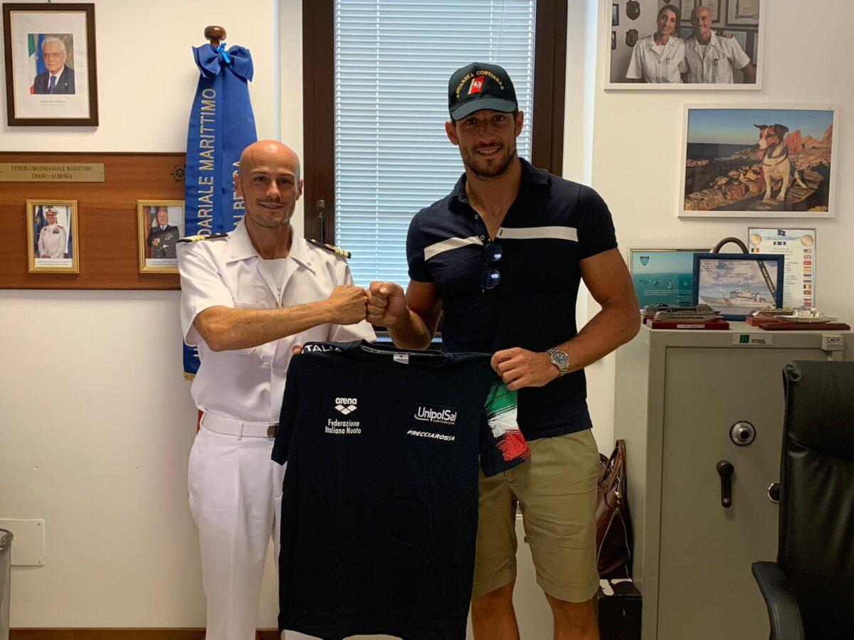 MAtteo Aicardi visita alla Guardia Costiera di Loano Albenga 03