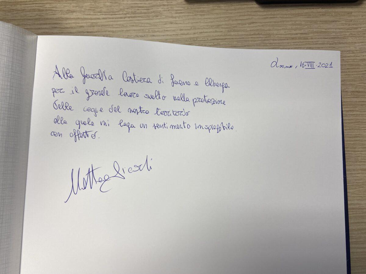 MAtteo Aicardi visita alla Guardia Costiera di Loano Albenga 04
