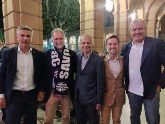 Garavaglia a Savona con Lettieri e Schirru